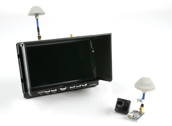 "Quanum FPV 5.8Ghz AV zender, 7 ""HD 5.8GHz Monitor / Diversity Receiver En Camera Bundle Set"