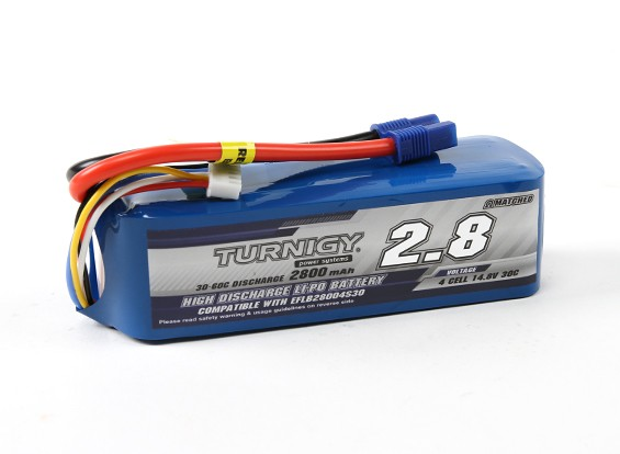 Turnigy 2800mAh 4S 30C LiPoly Pack w / EC3 (E-flite Compatible EFLB28004S30)
