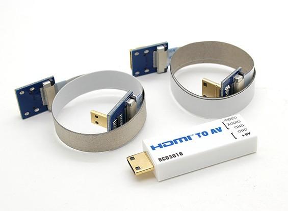RCD 3016 HDMI-naar-AV-poort converter