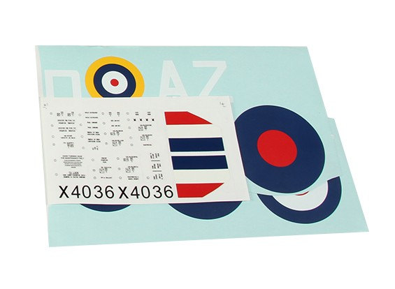 Durafly ™ Spitfire Mk1a Decal Set