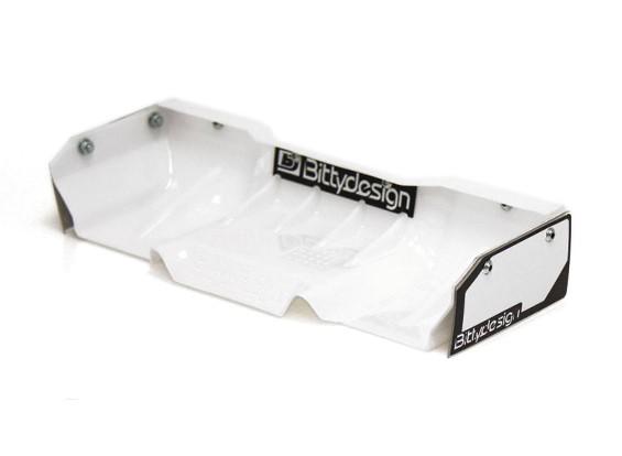Bittydesign Zefirus Lexan Wing voor alle 1/8 Buggy / Truggy (wit)