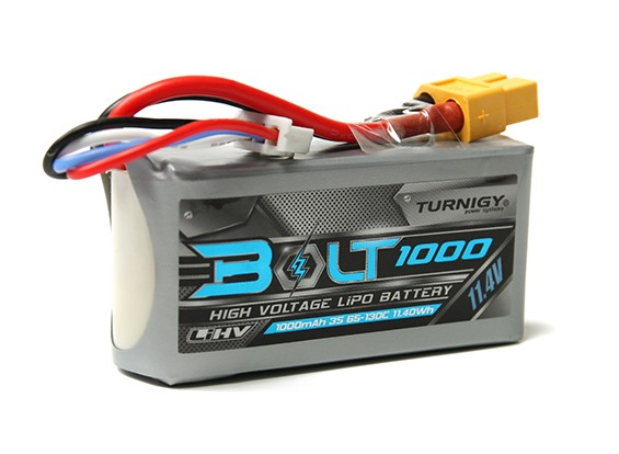 Turnigy Bolt 1000mAh 3S 11.4V 65 ~ 130C High Voltage LiPoly Pack (LiHV)