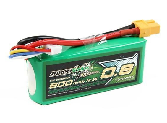 Pack Multistar Racer serie 800mAh 5S 60C Lipo (Gold Spec)