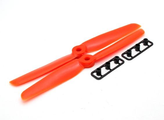 Gemfan 6030 GRP / Nylon Schroeven CW / CCW Set (Orange)