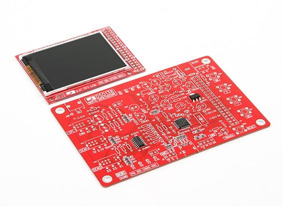 DSO138 oscilloscoop Kit, Official JYE, SMT GEDAAN VERSION KIT