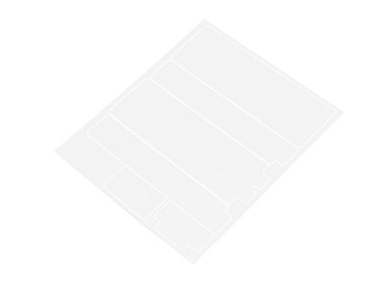 TrackStar Decorative Batterij Cover Panels voor Standard 2S Hardcase Flat Transparency (1 st)