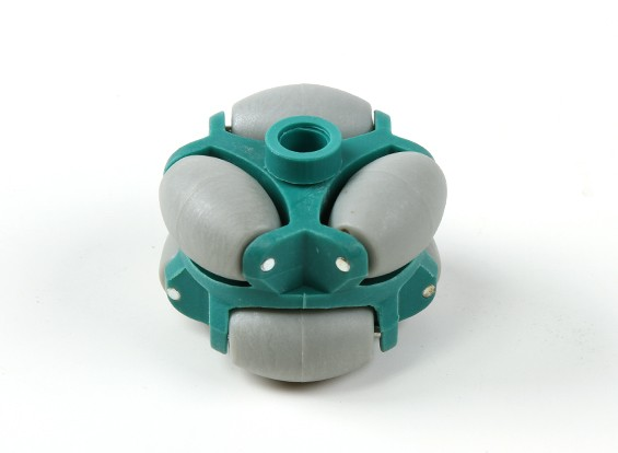 WH-05 omnidirectionele Double Robot Wheel 50mm / 20kg Circular Fitting