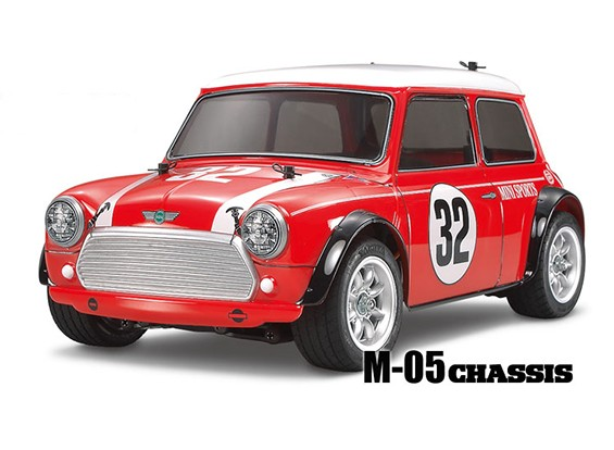 Tamiya schaal 1/10 RC Mini Cooper Racing M05 Series Kit 58438