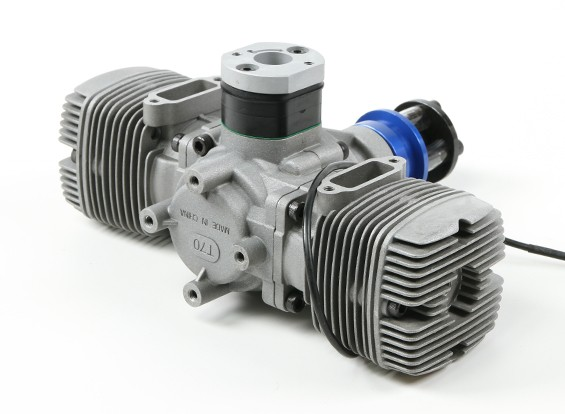 NGH GTT70 70cc Twin cilinder 2 takt Gas Engine