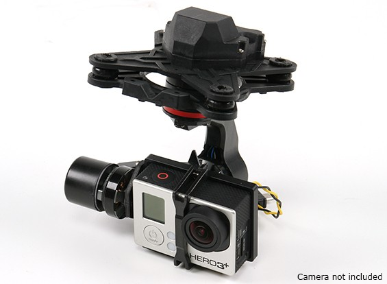 HMG YI3D 3 Axis Brushless Gimbal compatibel met GoPro Hero3 soort Action Camera