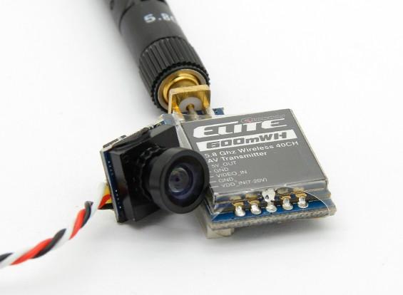 Quanum Elite 600mW 5.8GHz 40CH FX718-6 AV zender en camera Combo (P & P)