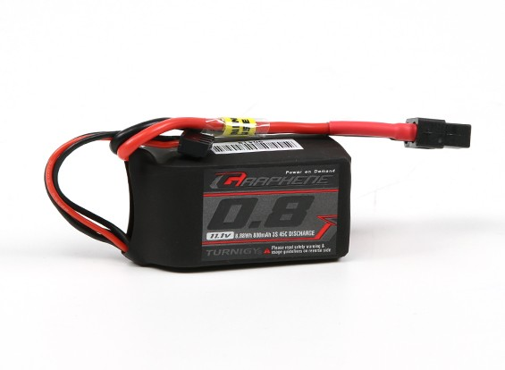 Turnigy Grafeen 800mAh 3S 45C Pack Lipo w / XT60