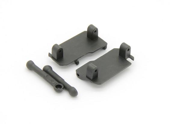 Servo Saver Mount, Servo Saver Tie Rod (2 stuks) - Basher Rocksta 1/24 4WS Mini Rock Crawler