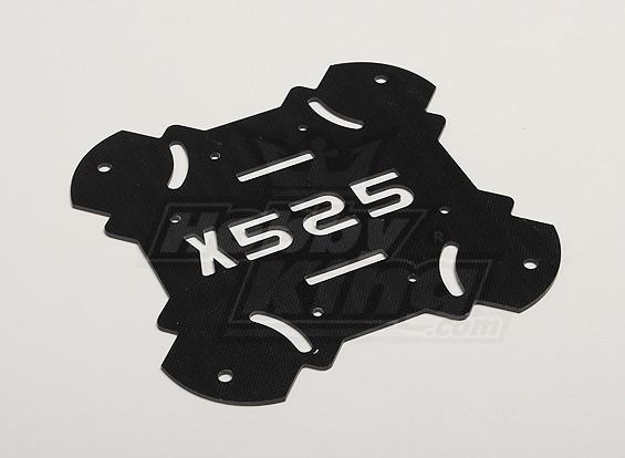 Hobbyking X525 V3 Glasvezel Hoofdonderstel bodemplaat (1pcs / bag)