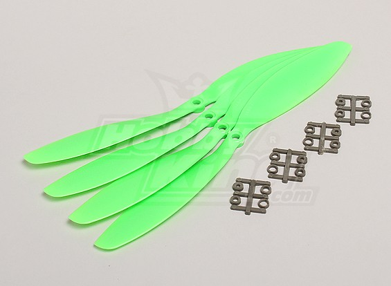 GWS Style Slowfly Propeller 11x4.7 Green (CCW) (4 stuks)