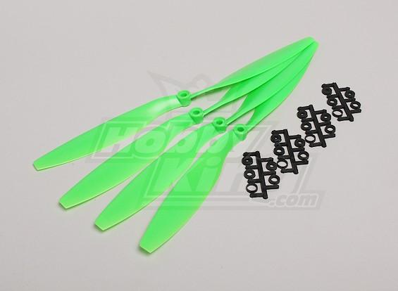 GWS Style Slowfly Propeller 12x4.5 Green (CW) (4 stuks)