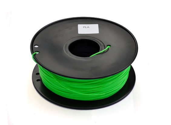 HobbyKing 3D-printer Filament 1.75mm PLA 1KG Spool (lichtgroen)
