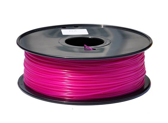 HobbyKing 3D-printer Filament 1.75mm PLA 1KG Spool (Dark Pink)