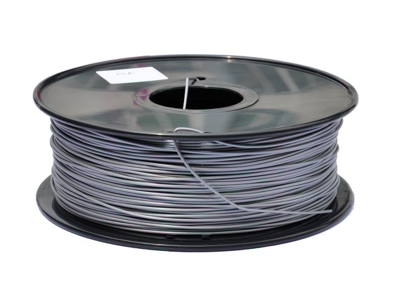 HobbyKing 3D-printer Filament 1.75mm PLA 1KG Spool (Metallic Zilver)