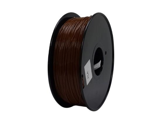 HobbyKing 3D-printer Filament 1.75mm PLA 1KG Spool (Brown)