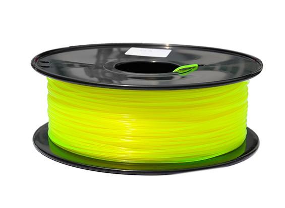 HobbyKing 3D-printer Filament 1.75mm PLA 1KG Spool (doorschijnend geel)