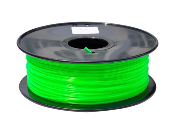 HobbyKing 3D-printer Filament 1.75mm PLA 1KG Spool (doorschijnend groen)