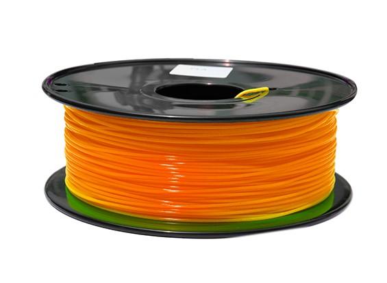 HobbyKing 3D-printer Filament 1.75mm PLA 1KG Spool (Fluorescent Orange)