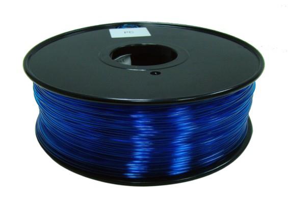 HobbyKing 3D-printer Filament 1.75mm polycarbonaat of PC 1KG Spool (Translucence Blue)