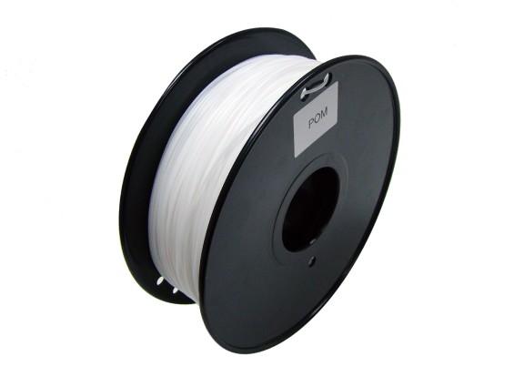 HobbyKing 3D-printer Filament 1.75mm POM 1.0kg Spool (wit)