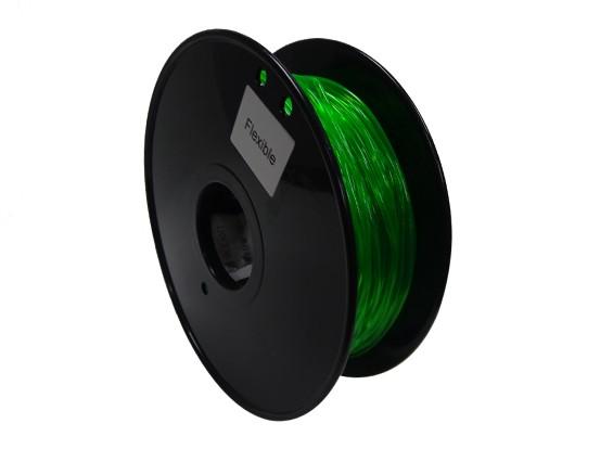 HobbyKing 3D-printer Filament 1.75mm Flexibele 0.8kg Spool (Groen)