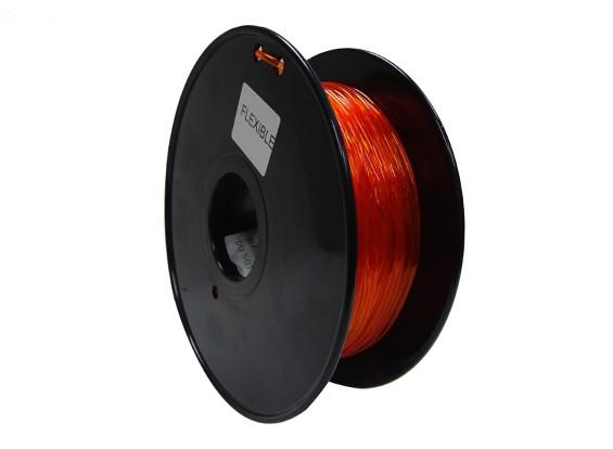 HobbyKing 3D-printer Filament 1.75mm Flexibele 0.8kg Spool (Orange)