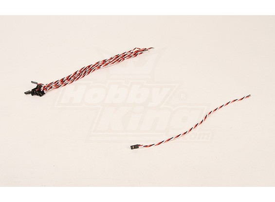 30cm Male 22AWG Twisted (10st / bag)