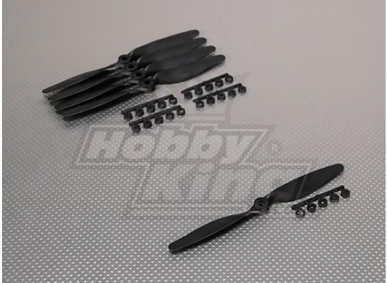 GWS Style Slowfly Propeller 7x4 Black (CCW) (5 stuks)