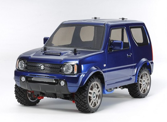 Tamiya 1/10 schaal Suzuki Jimny Metallic Blue Painted Body (MF-01X Chassis) 58.621