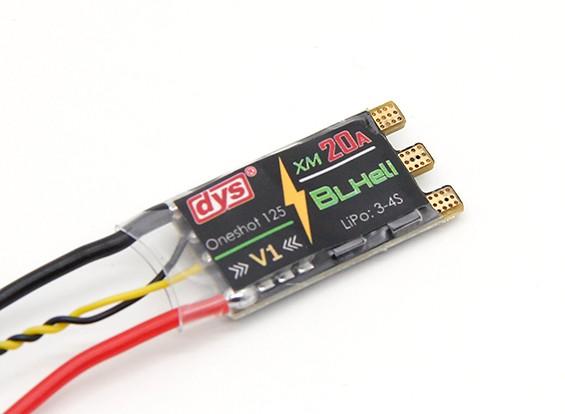 DYS XM20A 20A (3-4s) mini ESC voor High KV Motors (BLHeli met OneShot)