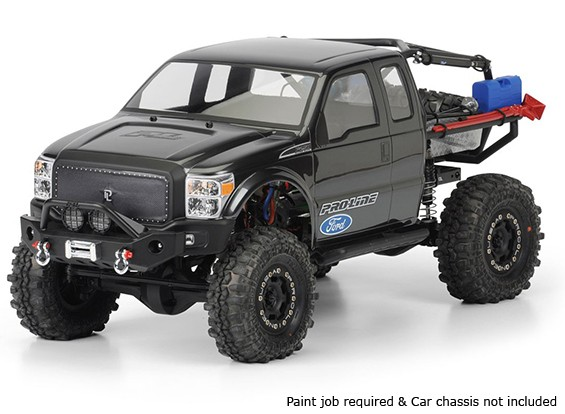 Pro-Line Ford F-250 Super Dual Cab Clear Body Shell voor SCX10 Trail Honcho