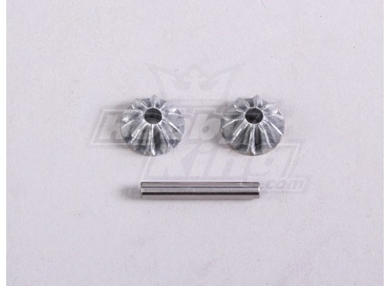 Diff. Bevel Gear S. W / Shaft (1Pc / Bag) - A2016T en A3002