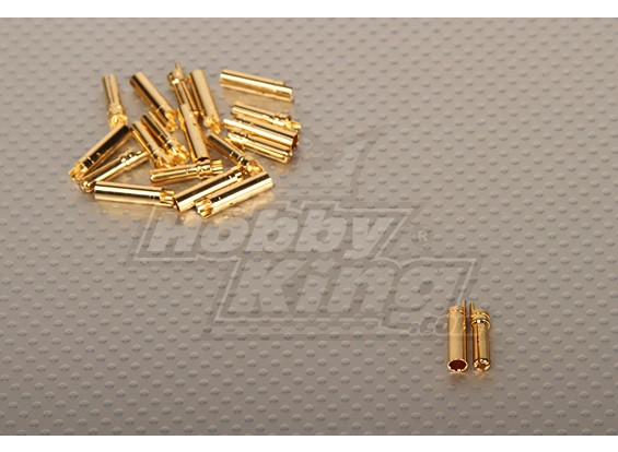 Polymax 4mm Gold Connectors (10pairs / set)