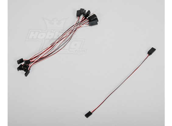 20cm Servo Lead (Futaba) 32AWG Ultra Light (10st / set)