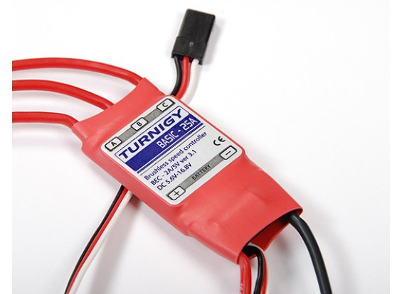 Turnigy Basic 25Amp Speed Controller w / BEC