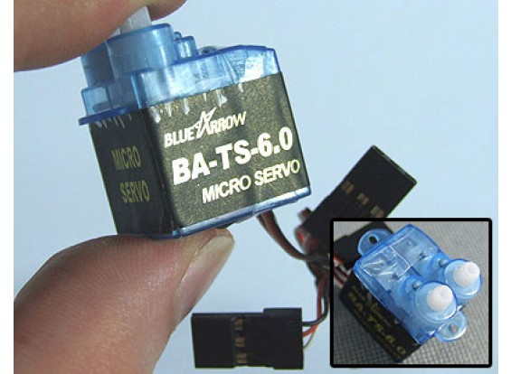 Arrow 6,0 g / .4kg x 2 / 12sec TWIN-HEAD Micro Serv