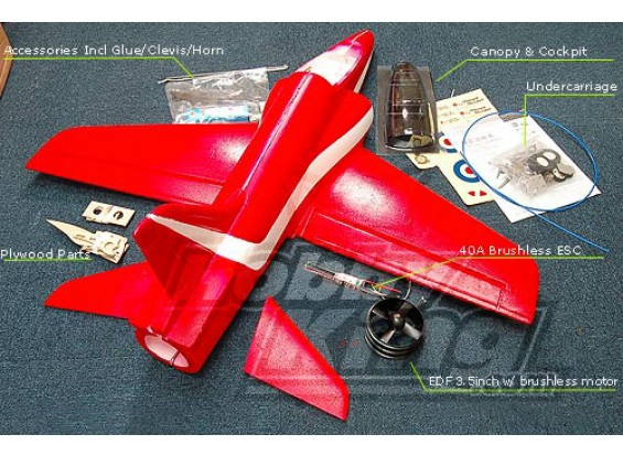 BAE Hawk Compleet Kit w / Motor / EDF / BESC