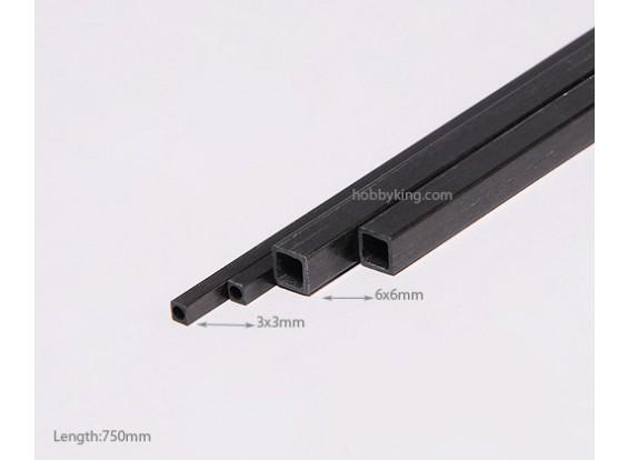 Carbon Fiber vierkante buis 750x6mm