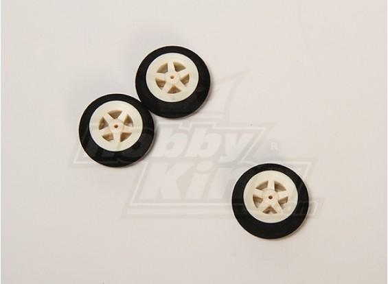 Super Light 5 Spoke Wheel D30xH10 (3pcs / bag)