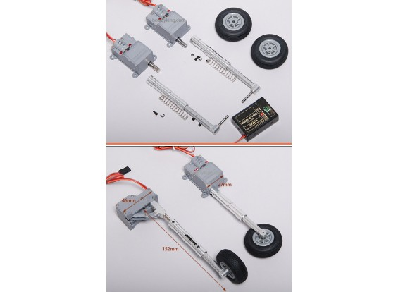 Digital Servoless Verstelbare Landing Gear set