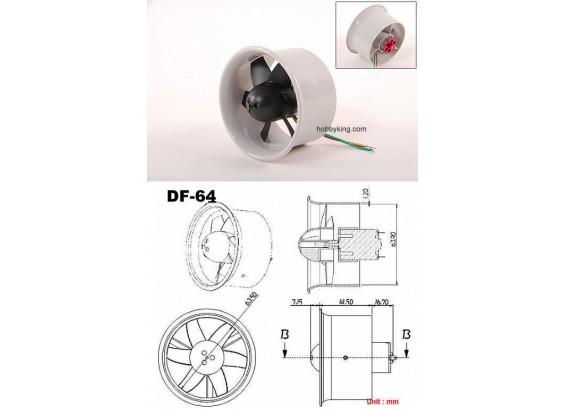 EDF64 met C20 motor gemonteerd 144W