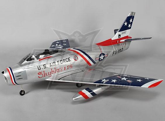 F-86 Skyblazer EDF Jet 70mm Electric Zet vrij, kleppen, Airbrake, EPO (PNF)
