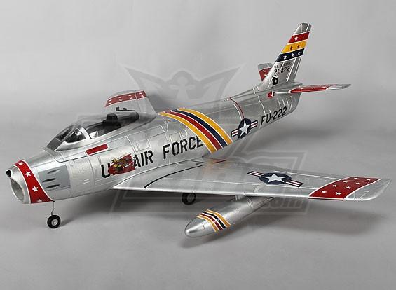 F-86 Desert Rats EDF Jet 70mm Electric Zet vrij, kleppen, Airbrake, EPO (PNF