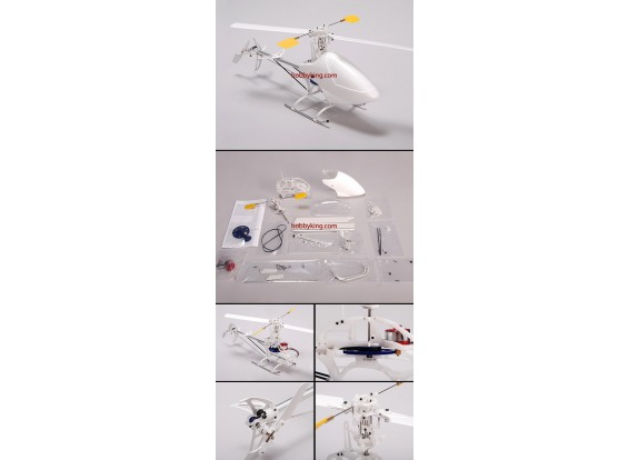 Fire Fox EP100 Micro 3D Helicopter w / Motor alleen (KIT ONLY)