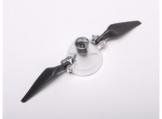 Folding Propeller 7x4 W / Alloy hub 40mm / 3.2mm as